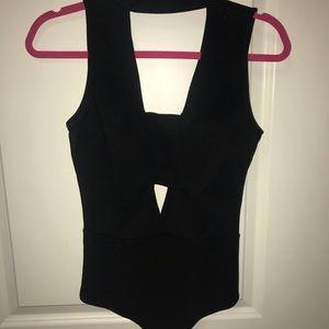 Fashion Nova Black Cut Out Bodysuit